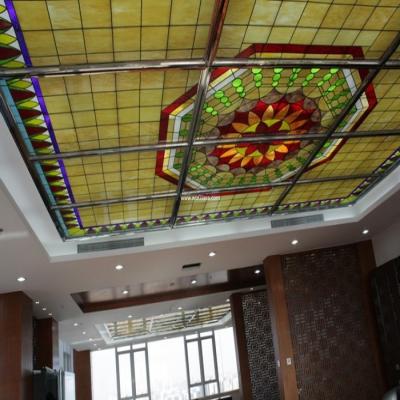 彩绘穹顶玻璃W-D-6018